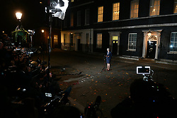 © Licensed to London News Pictures. 14/11/2018. London, UK. British Prime Minister THERESA MAY Makes a statement outside 10 Downing Street in London after presenting a Brexit deal to Cabinet. Photo credit: Ben Cawthra/LNP