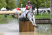 Emma Hyslop-Webb riding Waldo III during the International Horse Trials at Chatsworth, Bakewell, United Kingdom on 13 May 2018. Picture by George Franks.