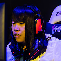 Team HLL's Tangerine competes against team Just Kittin' during the SHERO Invitational of the E-Sports Festival 2017 Hong Kong at the Hong Kong Convention and Exhibition Centre on 26 August 2017 in Hong Kong, China. Photo by Yu Chun Christopher Wong / studioEAST