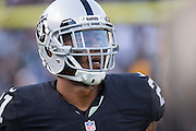 Oakland Raiders defensive back Sean Smith (21) during a preseason NFL game against the Tennessee Titans at Oakland Coliseum in Oakland, Calif., on August 26, 2016. (Stan Olszewski/Special to S.F. Examiner)