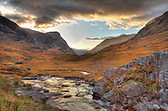 Glencoe in October near sunset. The light was fantastic.