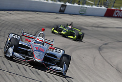 July 8, 2018 - Newton, Iowa, United States of America - WILL POWER (12) of Australia battles for position during the Iowa Corn 300 at Iowa Speedway in Newton, Iowa. (Credit Image: © Justin R. Noe Asp Inc/ASP via ZUMA Wire)