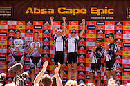 Oak Valley ( Elgin / Grabouw ), SOUTH AFRICA - Overall winners of the 2009 Absa Cape Epic during the final stage stage seven , 7 , of the Absa Cape Epic Mountain Bike Stage Race between Oak Valley ( Elgin / Grabouw ) and Lourensford on the 28 March 2009 in the Western Cape, South Africa..Photo by Karin Schermbrucker  /SPORTZPICS