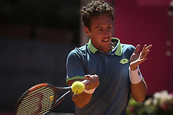 May 4, 2018 - Lisbon, Portugal - Roberto Carballes Baena in action during the Millennium Estoril Open tennis tournament in Estoril, outskirts of Lisbon, Portugal on May 4, 2018  (Credit Image: © Carlos Costa/NurPhoto via ZUMA Press)