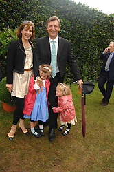 DARCEY BUSSELL and her husband ANGUS FORBES with their children, left PHOEBE and right ZOE at the Cartier Style Et Luxe at the Goodwood Festival of Speed, Goodwood House, West Sussex on 24th June 2007.<br />