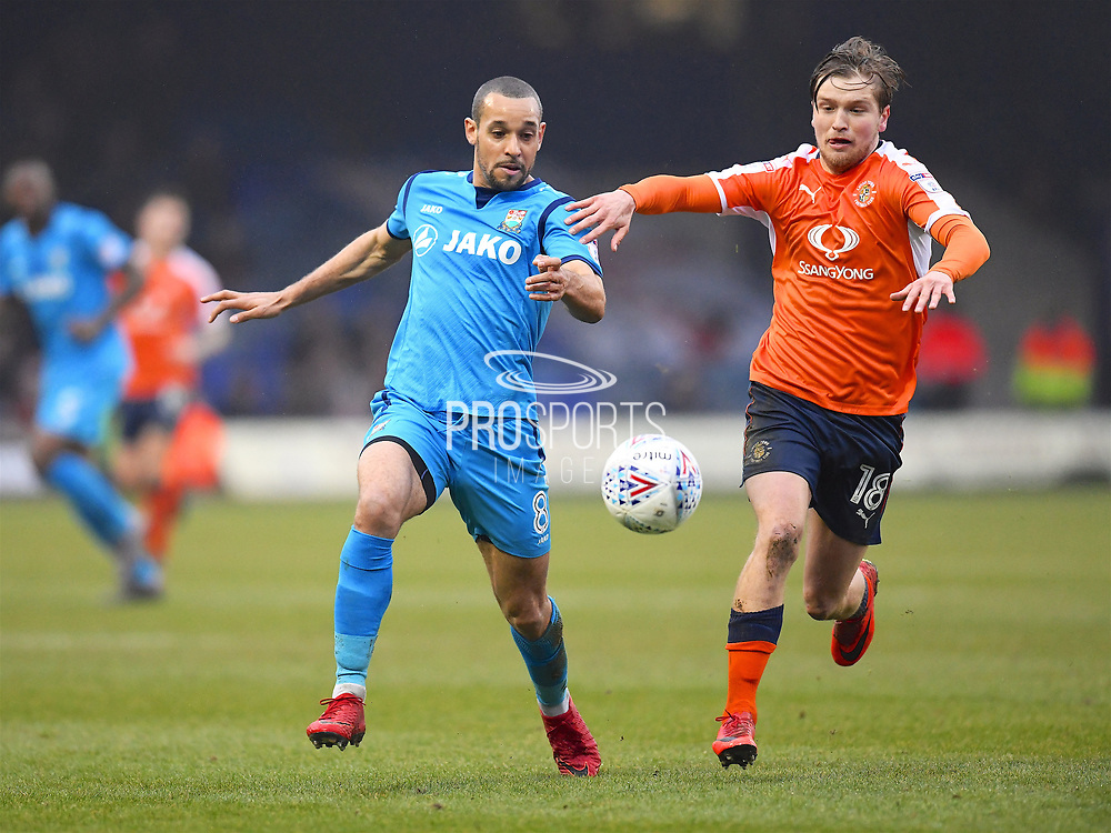 Barnet player Curtis fights for the ball against Barnets Luke Berry during the EFL Sky Bet League 2 match between Luton Town and Barnet at Kenilworth Road, Luton, England on 24 March 2018. Picture by Ian  Muir.during the EFL Sky Bet League 2 match between Luton Town and Barnet at Kenilworth Road, Luton, England on 24 March 2018. Picture by Ian  Muir.