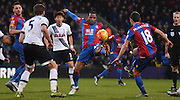 Jason Puncheon looks to stretch for the loose ball during the Barclays Premier League match between Crystal Palace and Tottenham Hotspur at Selhurst Park, London, England on 23 January 2016. Photo by Michael Hulf.