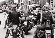 Main street, Sturgis, during annual classic Sturgis Rally and Races motorcycle Harley Davidson meet/event.