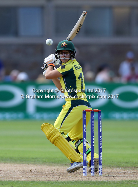Nicole Bolton bats during the Women's World Cup fifty over match between Australia and New Zealand at the County Ground, Bristol. Photo: Graham Morris /www.photosport.nz
