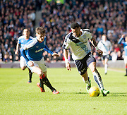 Dundee&rsquo;s Kane Hemmings goes past Rangers&rsquo; Rob Kiernan - Rangers v Dundee, William Hill Scottish Cup quarter final at Ibrox Park<br /> <br />  - &copy; David Young - www.davidyoungphoto.co.uk - email: davidyoungphoto@gmail.com