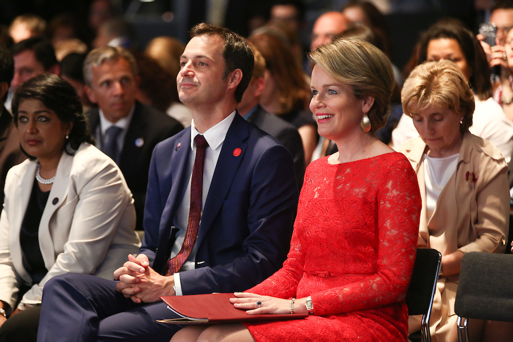 20160616 - Brussels , Belgium - 2016 June 16th - European Development Days - Special address from Her Majesty Mathilde the Queen of Belgians - HM Mathilde, the Queen of Belgians and Alexander De Croo , Deputy Prime Minister, Minister of Development Cooperation, Digital Agenda, Telecom and Postal Services Government of Belgium© European Union
