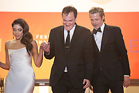Daniela Pick, Quentin Tarantino and Brad Pitt at the Once Upon A Time... In Holywood gala screening at the 72nd Cannes Film Festival Tuesday 21st May 2019, Cannes, France. Photo credit: Doreen Kennedy