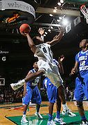 Dec 07, 2011; Birmingham, AL, USA; UAB Blazers forward Ovie SOko (0) shoots over Middle Tennessee Blue Raiders at Bartow Arena. The Blazers defeated the Blue Raiders 66-56 Mandatory Credit: Marvin Gentry-
