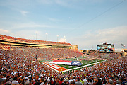 AUSTIN, TX - SEPTEMBER 14: A general view of the Texas Longhorns before kickoff against the Mississippi Rebels on September 14, 2013 at Darrell K Royal-Texas Memorial Stadium in Austin, Texas.  (Photo by Cooper Neill/Getty Images) *** Local Caption ***