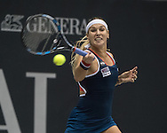 Dominika Cibulkova (SVK) during the quarter finals of the WTA Generali Ladies Linz Open at TipsArena, Linz<br /> Picture by EXPA Pictures/Focus Images Ltd 07814482222<br /> 14/10/2016<br /> *** UK &amp; IRELAND ONLY ***<br /> <br /> EXPA-REI-161014-5004.jpg