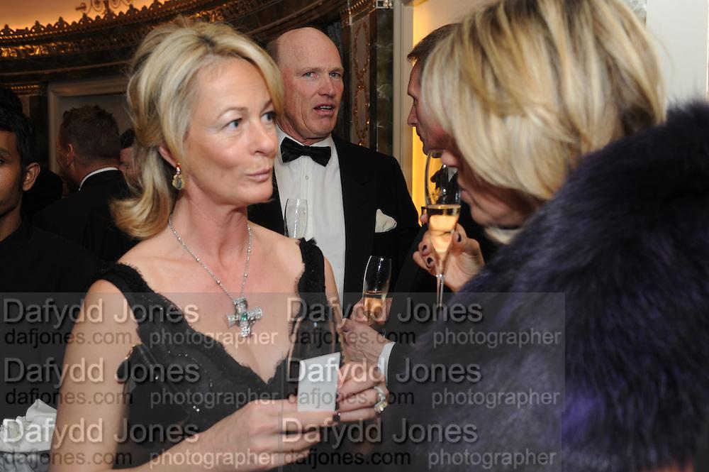 MRS. PHILIP FREEDMAN; MRS. EMMA BENYON, The Cartier Racing Awards. The Ballroom, Dorchester hotel. Park Lane. London. 15 November 2011. <br /> <br />  , -DO NOT ARCHIVE-© Copyright Photograph by Dafydd Jones. 248 Clapham Rd. London SW9 0PZ. Tel 0207 820 0771. www.dafjones.com.