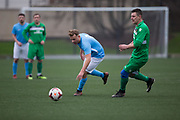Dundee Saturday Morning Football League sides Hilltown Hotspurs (green) and Kettledrum (light blue) in North of Tay Cup action at DISC, Dundee <br /> <br />  - © David Young - www.davidyoungphoto.co.uk - email: davidyoungphoto@gmail.com