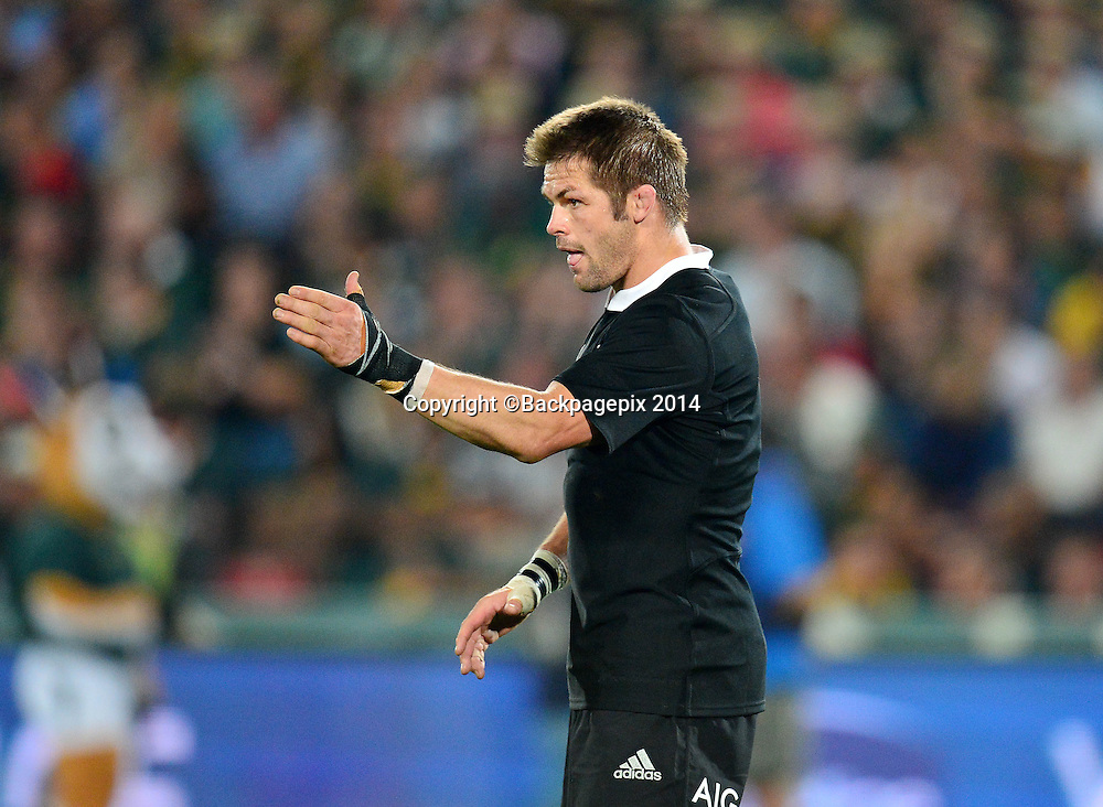 Richie McCaw of New Zealand during the Castle Lager Rugby Championship match between South Africa and New Zealand at Ellis Park on 04 October 2014 © Gavin Barker/BackpagePix