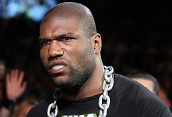 "May 28, 2011; Las Vegas, NV; USA; Quinton ""Rampage"" Jackson makes his way to the Octagon for his bout against Matt Hamill at UFC 130 at the MGM Grand Garden Arena."
