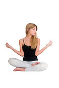Yoga On white Background