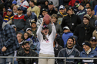 An excited Buffalo Bills fan screams after Willis McGahee threw the ball to her following a  touchdown against the Seahawks in Seattle, November 28, 2004.
