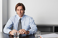 Businessman in office portrait
