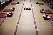 (En) January 2010 - Koyasan, Japan. Dinner at Rengejo-in temple. Traditional food (Shojin Ryori) eaten by the priests in Koyasan consists in tofu and vegetables.  (Fr) Janvier 2010 - Koyasan, Japon. Repas du soir au temple Rengejo-in. La cuisine traditionnelle des moines du Koya-san (Shojin Ryori) est composee essentiellement de tofu et de legumes.