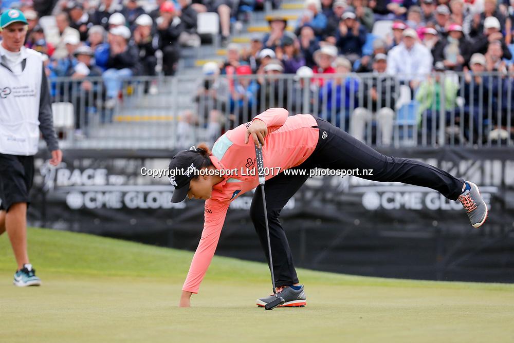 Lydia Ko on 18. Round 2, McKayson NZ Women's Open 2017. LPGA Tour. Windross Farm, Auckland, New Zealand. Thursday 28 September, 2017. Copyright photo: John Cowpland / www.photosport.nz