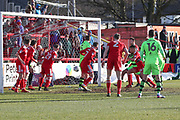 Forest Green Rovers Reuben Reid(26) shoots at goal scores a goal 1-1 during the EFL Sky Bet League 2 match between Accrington Stanley and Forest Green Rovers at the Wham Stadium, Accrington, England on 17 March 2018. Picture by Shane Healey.