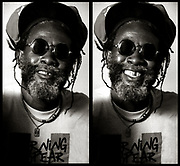 Burning Spear photosession at Island Records 1990