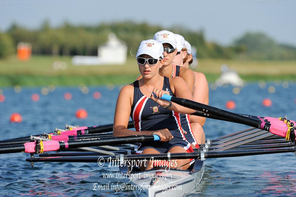 Eton. Great Britain. USA JW4X,  2011 FISA Junior  World Rowing Championships. Dorney Lake, Nr Windsor. Wednesday, 03/08/2011 [Mandatory credit: Intersport Images]