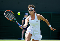 LONDON, ENGLAND - Tuesday, July 1, 2014: Yaroslava Shvedova (KAZ) during the Ladies' Singles 4th Round match on day eight of the Wimbledon Lawn Tennis Championships at the All England Lawn Tennis and Croquet Club. (Pic by David Rawcliffe/Propaganda)