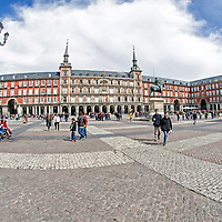 Plaza Mayor de Madrid. The Plaza Mayor of Madrid. Spain.