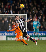 10th April 2018, Tannadice Park, Dundee, Scotland; Scottish Championship football, Dundee United versus St Mirren; Liam Smith of St Mirren and Paul McMullan of Dundee United