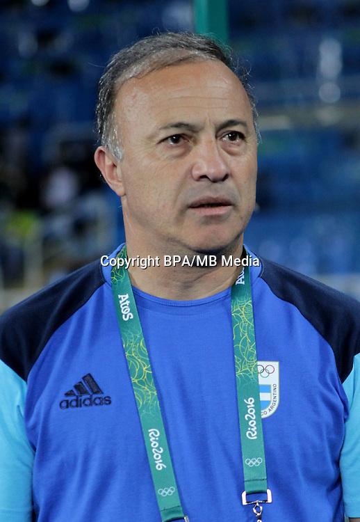 Fifa Men´s Tournament - Olympic Games Rio 2016 - <br /> Argentina National Team -  <br /> Julio Olarticoechea  - DT Argentina