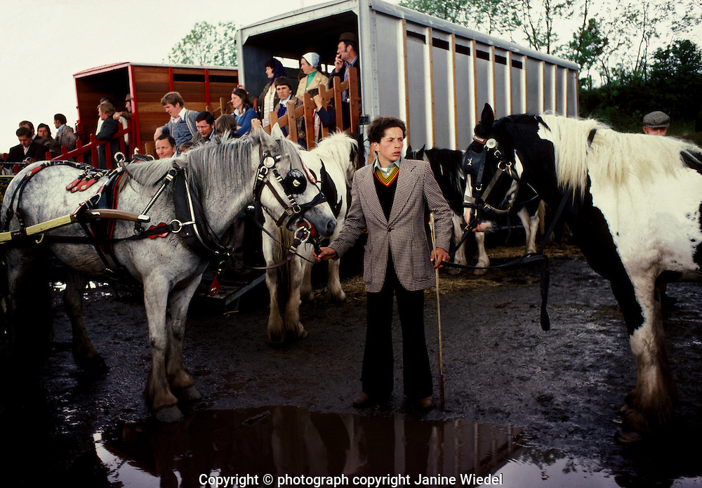 Once a year  gypsies and travellers  gather at Appleby north England to buy sell trade horses.