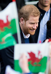 © Licensed to London News Pictures. 18/01/2018. Cardiff, UK. Prince Harry and Meghan Markle (not pictured) arrive at Cardiff Castle, to visit the Wales Culture Fair. Photo credit : Tom Nicholson/LNP