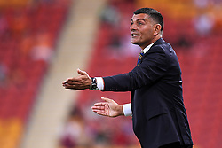 January 18, 2018 - Brisbane, QUEENSLAND, AUSTRALIA - Brisbane Roar head coach John Aloisi gives instructions during the round seventeen Hyundai A-League match between the Brisbane Roar and the Perth Glory at Suncorp Stadium on January 18, 2018 in Brisbane, Australia. (Credit Image: © Albert Perez via ZUMA Wire)