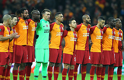 February 14, 2019 - Istanbul, Turkey - Galatasaray's players during the UEFA Europa League round of 32 first leg football match between Galatasaray AS and SL Benfica at the Turk Telekom stadium, in Istanbul, on February 14, 2019. (Credit Image: © Mahmut Burak Burkuk/Depo Photos via ZUMA Wire)