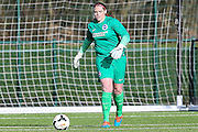 Brighton's goalkeeper Faye Baker during the FA Women's Premier League match between Coventry United Ladies and Brighton Ladies at Bedford United FC, Bedford, United Kingdom on 21 February 2016. Photo by Shane Healey.