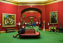Interior of famous National Gallery in Edinburgh Scotland