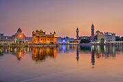 The Harmandir Sahib, 'The Golden Temple', Amritsar, Punjab, India.