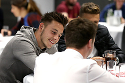 Josh Brownhill of Bristol City takes part in the Community Trust Quiz - Mandatory by-line: Robbie Stephenson/JMP - 19/09/2016 - FOOTBALL - Ashton Gate - Bristol, England - Bristol City Community Trust Quiz