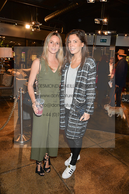 Left to right, AMANDA CROSSLEY and AMANDA SHEPPARD at a party to celebrate the publication of Flourish by Willow Crossley held at OKA, 155-167 Fulham Rd, London on 4th October 2016.