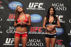 May 27, 2011; Weigh-In's for UFC 130 at the MGM Grand in Las Vegas, NV.