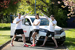 No repro Fee: Model Alison Canavan, with 2FM DJ's Mark McCabe (left) and Paddy McKenna are encouraging last minute runners to join them in the Wings For Life World Run this Sunday, May 4th in Killarney, in aid of spinal cord research. You can still sign up by phone on 01-6436406 or at the registration area on Saturday and Sunday. Details on www.wingsforlifeworldrun.com Credit: Andres Poveda