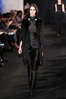 Ruby Aldridge walks down runway for F2012 Prabal Gurung's collection in Mercedes Benz fashion week in New York on Feb 10, 2012 NYC