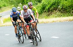 Aleksandr Vlasov (RUS) of Gazprom - Rusvelo, Giovanni Visconti (ITA) of Neri Sottoli Selle Italia KTM, Tadej Pogacar (SLO) of UAE Team Emirates, Diego Ulissi (ITA) of UAE Team Emirates during 4th Stage of 26th Tour of Slovenia 2019 cycling race between Nova Gorica and Ajdovscina (153,9 km), on June 22, 2019 in Slovenia. Photo by Vid Ponikvar / Sportida