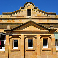 Richmond Town Hall in Richmond, Australia<br /> Richmond Town Hall is an example of the 80 heritage properties located in Richmond, of which nearly 50 have a Georgian design. That is very impressive for a town of about 1,000 residents. The Town Hall is the place to be on Saturdays for the Village Market. It features stalls of produce, food and crafts offered by local farmers, cooks, merchants and artisans.