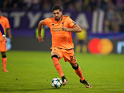 MARIBOR, SLOVENIA - Tuesday, October 17, 2017: Liverpool's Emre Can during the UEFA Champions League Group E match between NK Maribor and Liverpool at the Stadion Ljudski vrt. (Pic by David Rawcliffe/Propaganda)
